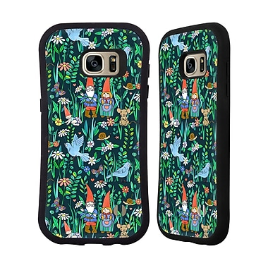 Official Micklyn Le Feuvre Patterns 5 Gnome Family Love Hybrid Case For Samsung Galaxy S7 Edge
