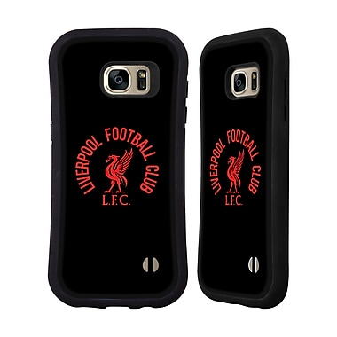 Official Liverpool Football Club Liver Bird Red Lfc On Black Hybrid Case For Samsung Galaxy S7 Edge