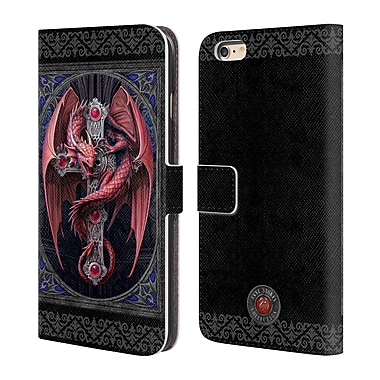 Official Anne Stokes Tribal Gothic Guardian Leather Book Wallet Case Cover For Apple Iphone 6 Plus / 6S Plus