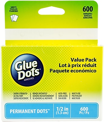 Glue Dots 600 Clear Dots .5