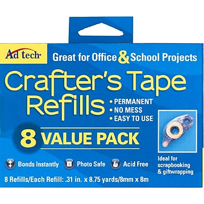 Ad-Tech Value Pack Crafter's Tape Refills, 8/Pkg (5674)