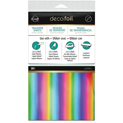 Thermoweb Rainbow Deco Foil Transfer Sheets, 6