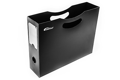 "AutoExec Plastic File Holder 12""W x 9.5""H x 3""D Letter Size, Black (FILEHOLDER-01)"