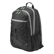 HP Active Black/Mint Green Fabric Backpack (1LU22AA)