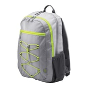 HP Active Gray/Neon Yellow Fabric Backpack (1LU23AA)