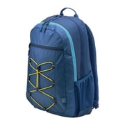 HP Active Navy Blue/Yellow Fabric Backpack (1LU24AA)