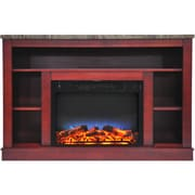 """Cambridge 47"""" Electric Fireplace with a Multi-Color LED Insert and Cherry Mantel (CAM5021-1CHRLED)"""