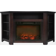 "Cambridge Stratford 56"" Electric Corner Fireplace in Mahogany with 1500W Fireplace Insert (CAM5630-1MAH)"