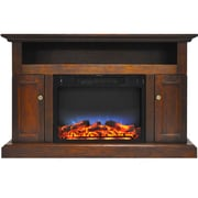 "Cambridge Sorrento Electric Fireplace with Multi-Color LED Insert and 47"" Entertainment Stand in Walnut (CAM5021-2WALLED)"