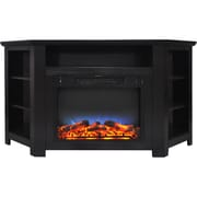 "Cambridge Stratford 56"" Electric Corner Fireplace in Black Coffee with LED Multi-Color Display (CAM5630-1COFLED)"