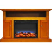 "Cambridge Sorrento Electric Fireplace with Multi-Color LED Insert and 47"" Entertainment Stand in Teak (CAM5021-2TEKLED)"