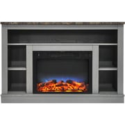 """Cambridge 47"""" Electric Fireplace with a Multi-Color LED Insert and Gray Mantel (CAM5021-1GRYLED)"""