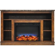 "Cambridge 47"" Electric Fireplace with a Multi-Color LED Insert and Walnut Mantel (CAM5021-1WALLED)"