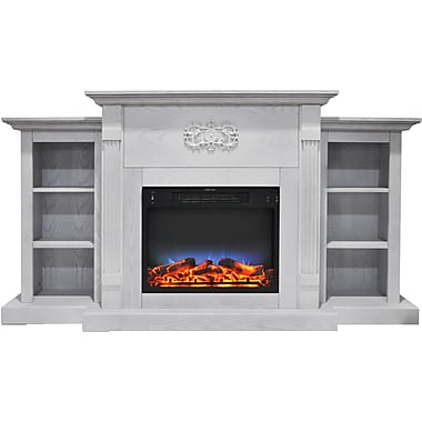 "Shop Cambridge Sanoma 72"" Electric Fireplace in White with Built-in Bookshelves & Multi-Color LED Flame Display (CAM7233-1WHTLED) at Staples. Choose from our wide selection of Cambridge Sanoma 72"" Electric Fireplace in White with Built-in Bookshelves & Mu"