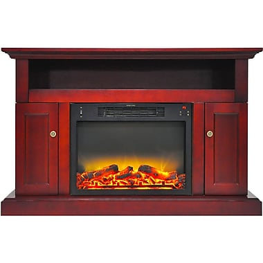 Cambridge Sorrento Electric Fireplace with an Enhanced Log Display and 47