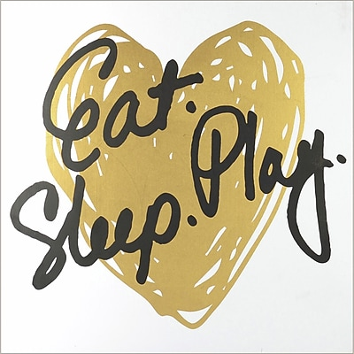 Linden Avenue Wall Art Eat Play Sleep - Gold 8