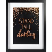 """Linden Avenue Wall Art Stand Tall Darlin Rose Gold 11"""" x 14"""" (AVE10066)"""