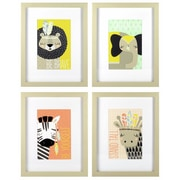 """Linden Avenue Wall Art Explorer Animals 10"""" x 8"""", Pack of 4 (AVE10074)"""