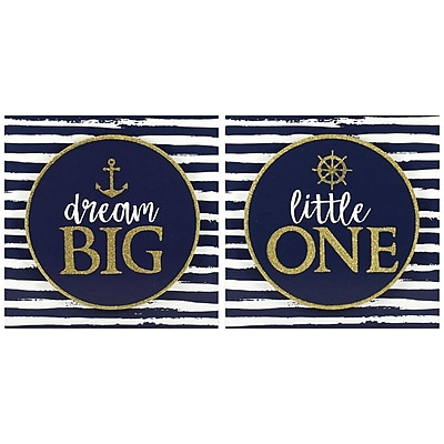 Linden Avenue Wall Art Dream Big Little One, 2 Pack, 11