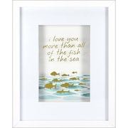 "Linden Avenue Wall Art All Of The Fish In The Sea 11"" x 14"" (AVE10105)"