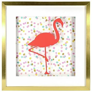 Linden Avenue Wall Art Confetti Flamingo 10