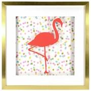 "Linden Avenue Wall Art Confetti Flamingo 10"" x 10"" (AVE10110)"