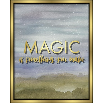 Linden Avenue Wall Art MAGIC IS SOMETHING YOU MAKE- Blue 16