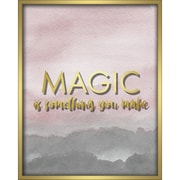"""Linden Avenue Wall Art MAGIC IS SOMETHING YOU MAKE-BLUSH 16"""" x 20"""" (AVE10301)"""
