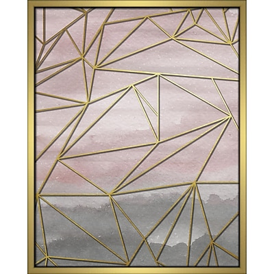 Linden Avenue Wall Art FRACTAL WATERCOLOR-BLUSH 16