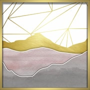 """Linden Avenue Wall Art WATERCOLOR MOUNTAINS- BLUSH 24' x 24"""" (AVE10303)"""
