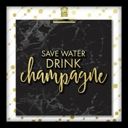 """Linden Avenue Wall Art SAVE WATER DRINK CHAMPAGNE 10"""" x 10"""" (AVE10359)"""