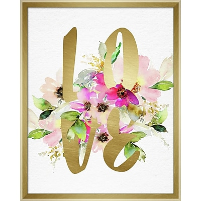 Linden Avenue Wall Art LOVE LAYERED FLORAL 16