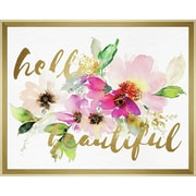 """Linden Avenue Wall Art HELLO BEAUTIFUL LAYERED FLORAL 20"""" x 16"""" (AVE10381)"""