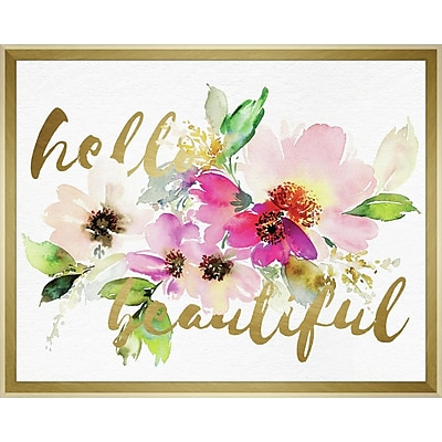 Linden Avenue Wall Art HELLO BEAUTIFUL LAYERED FLORAL 20