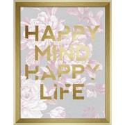 "Linden Avenue Wall Art HAPPY MIND HAPPY LIFE 11"" x 14"" (AVE10384)"