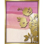 """Linden Avenue Wall Art PINK ABSTRACT WATERCOLOR W. PEONY SLIHOUETTE 11"""" x 14"""" (AVE10402)"""