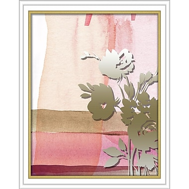 Linden Avenue Wall Art PINK ABSTRACT WATERCOLOR W. PRINTED PEONY 16