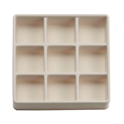 InterDesign Fashion Office or Jewelry Organizer Box for Office Supplies and Jewelry - 3-Drawer, Clear/Ivory (37030)