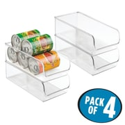 "InterDesign Linus Office Storage Binz for Desk or Cabinet - 11"" x 5.5"" x 3.5"", Set of 4, Clear (56930M4)"