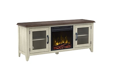 ClassicFlame Wilderness Run TV with Electric Fireplace, Brushed White (18MM50204-PD06S)
