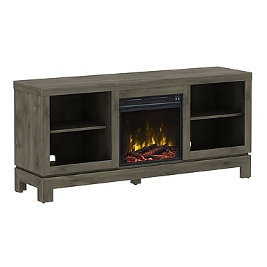 ClassicFlame Berkeley TV Stand with Electric Fireplace, Spanish Gray (18MM6022-PI14S)