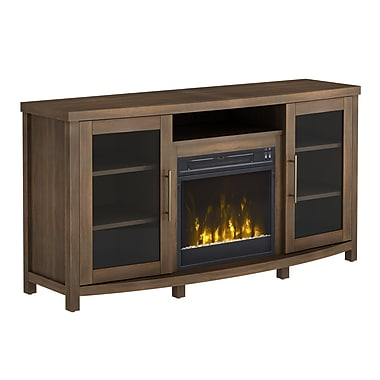 ClassicFlame Rossville TV Stand with Electric Fireplace, Stanton Birch (18MM6036-PM93S)