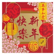 """Amscan Chinese New Years Blessing Beverage Napkin, 5"""" x 5"""", 5/Pack"""", 16 Per Pack"""