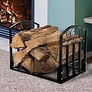 Pure Garden Fireplace Log Bin Scroll (M150027)