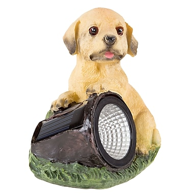 Pure Garden Solar LED Dog Statue (M150084)
