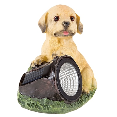 Pure Garden Solar LED Dog Statue (M150084)