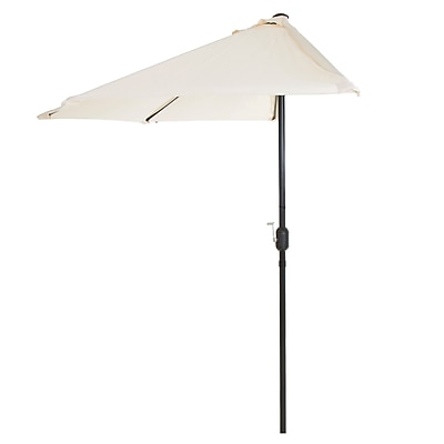 Pure Garden 9' Half Round Patio Umbrella Tan (M150055)