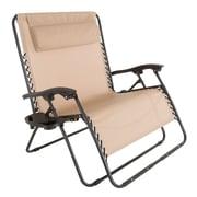Pure Garden Zero Gravity Patio Love Seat Beige (M150117)