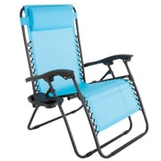 Pure Garden Zero Gravity Patio Chair Blue (M150115)
