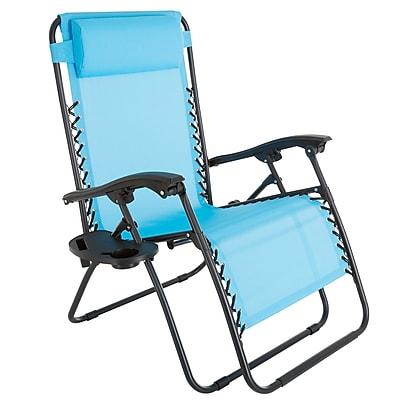Pure Garden Zero Gravity Patio Chair Blue (M150115)